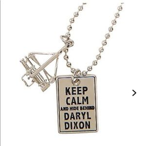 NWT Walking Dead: Daryl Dixon Silver Necklace